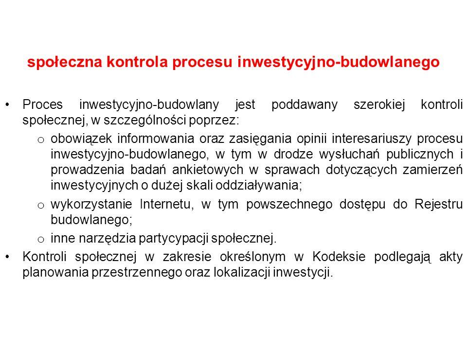 społeczna kontrola procesu inwestycyjno-budowlanego