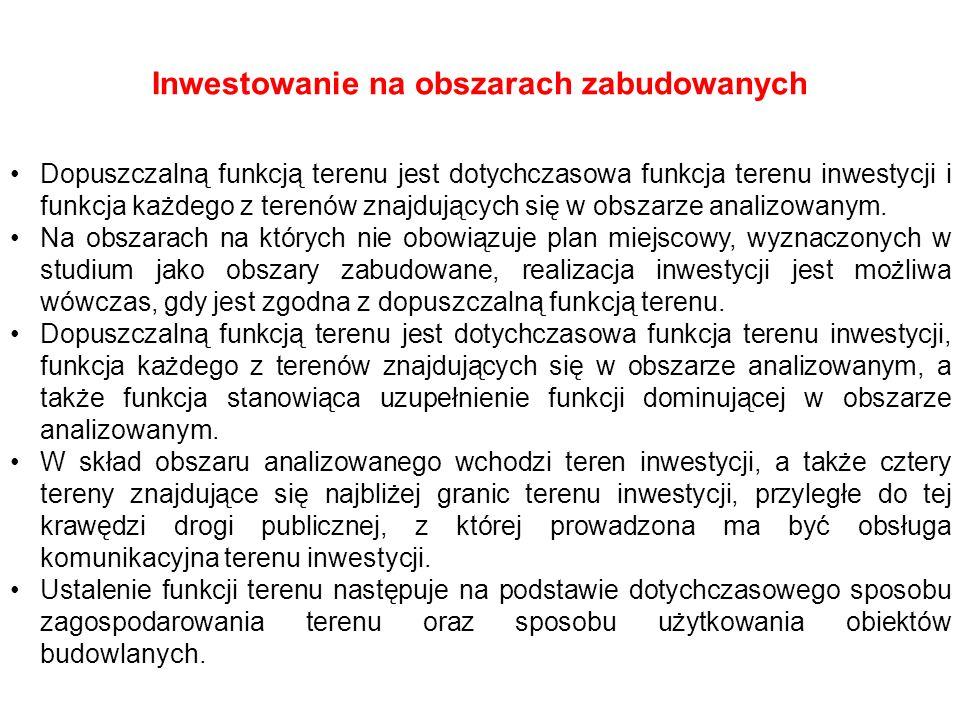 Inwestowanie na obszarach zabudowanych