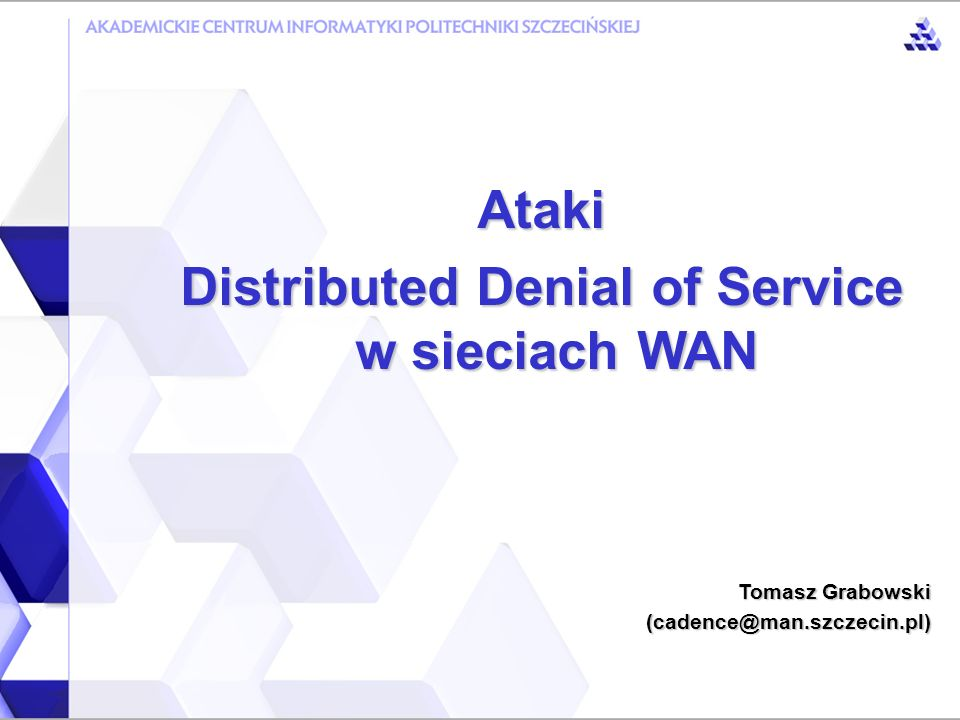 Distributed Denial of Service w sieciach WAN