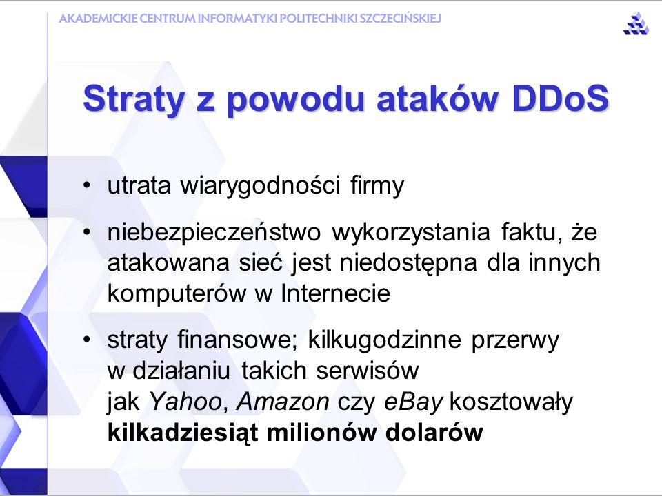Straty z powodu ataków DDoS