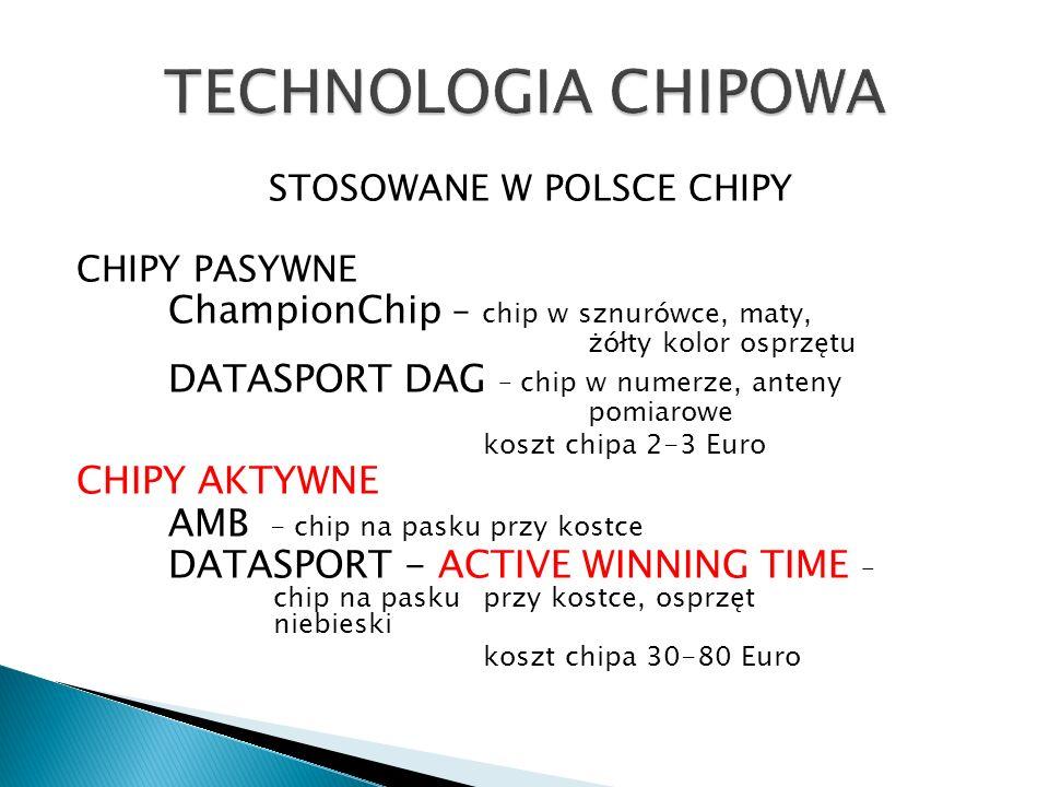 STOSOWANE W POLSCE CHIPY