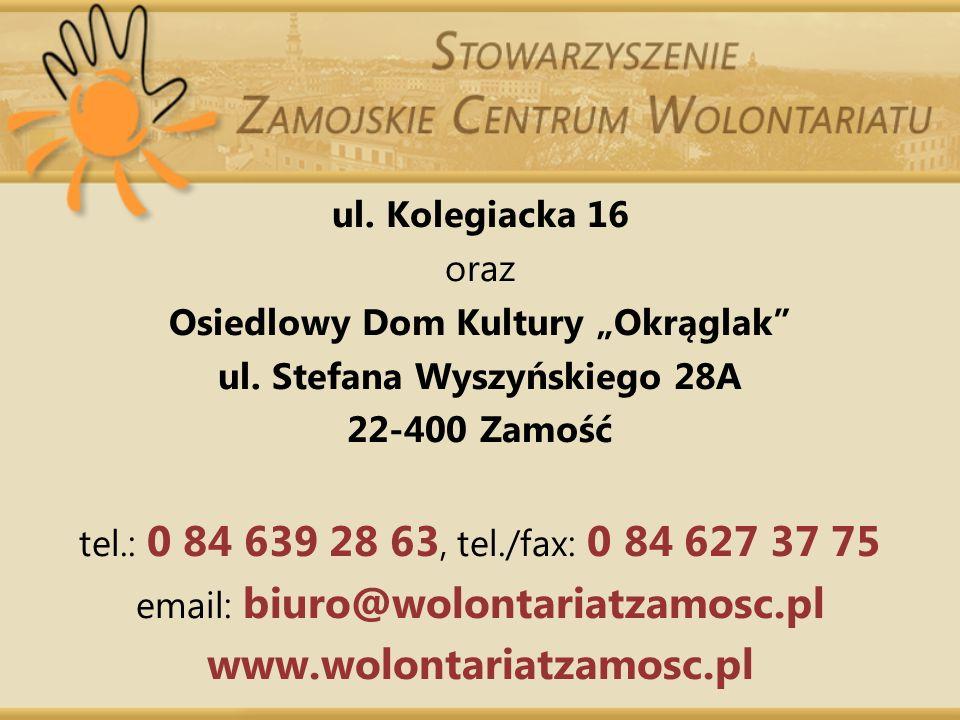 """Osiedlowy Dom Kultury """"Okrąglak ul. Stefana Wyszyńskiego 28A"""