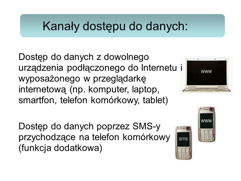 Kanały dostępu do danych:
