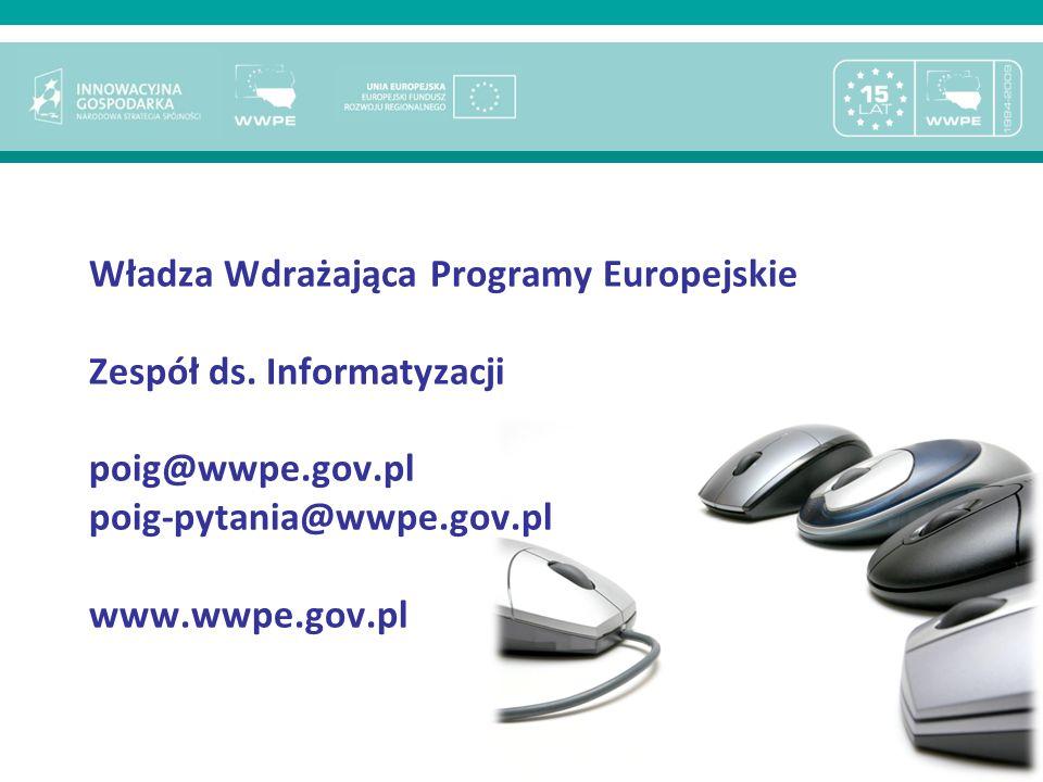 Władza Wdrażająca Programy Europejskie Zespół ds