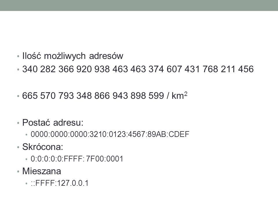 Ilość możliwych adresów