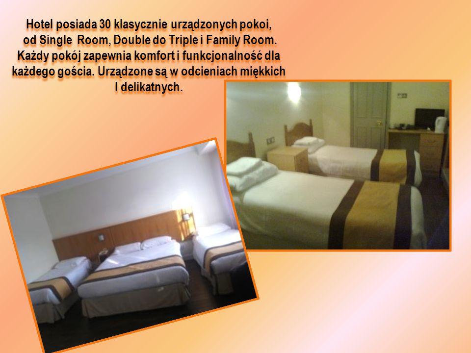 Hotel posiada 30 klasycznie urządzonych pokoi,