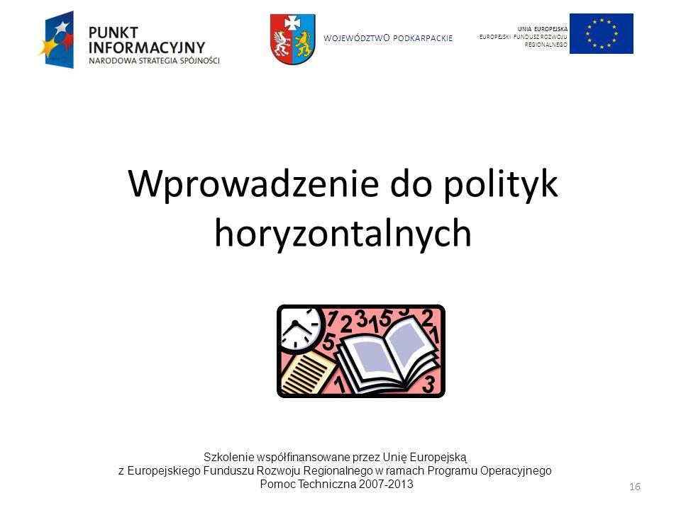 Wprowadzenie do polityk horyzontalnych
