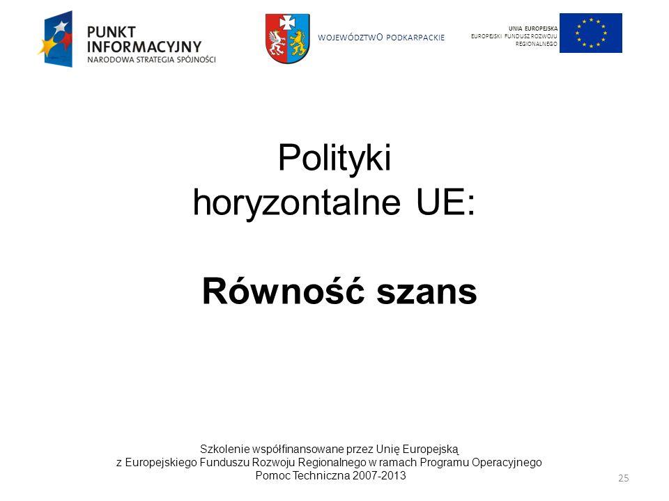 Polityki horyzontalne UE:
