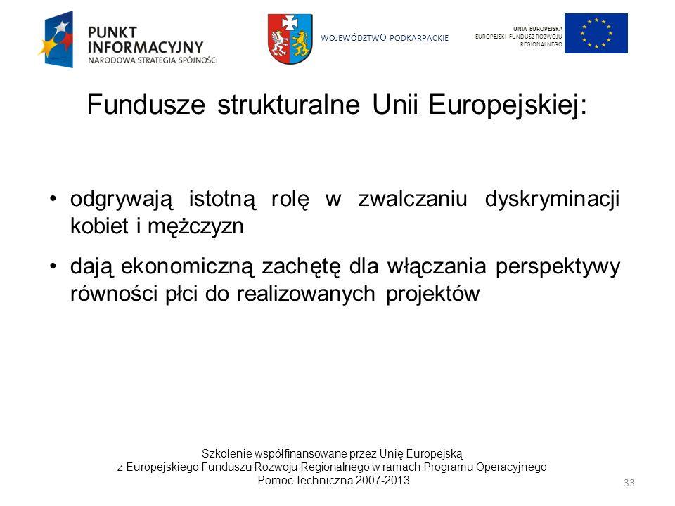 Fundusze strukturalne Unii Europejskiej: