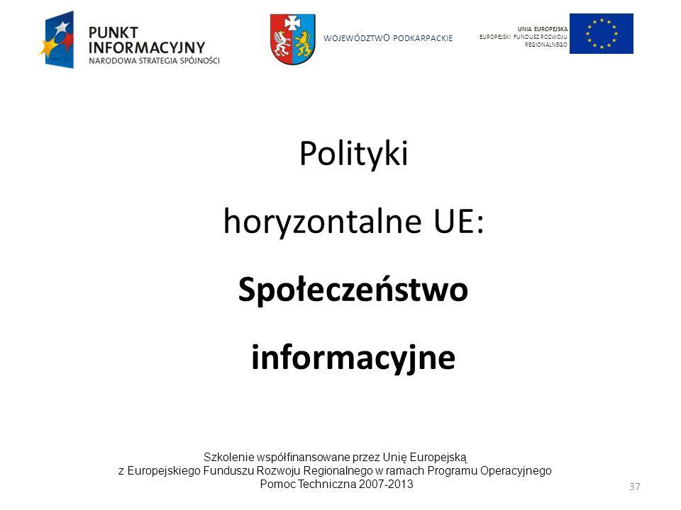 Polityki horyzontalne UE: Społeczeństwo informacyjne