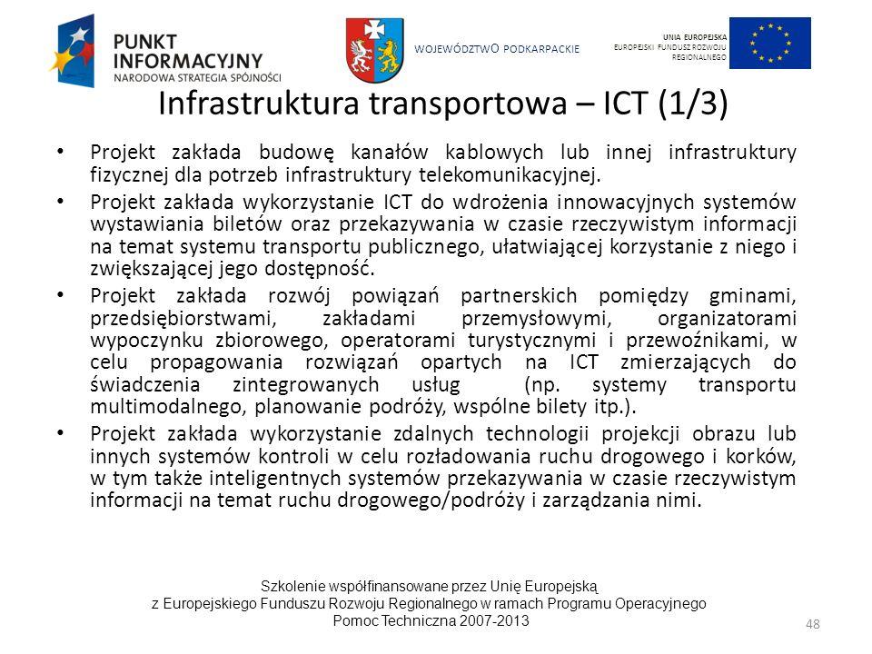 Infrastruktura transportowa – ICT (1/3)