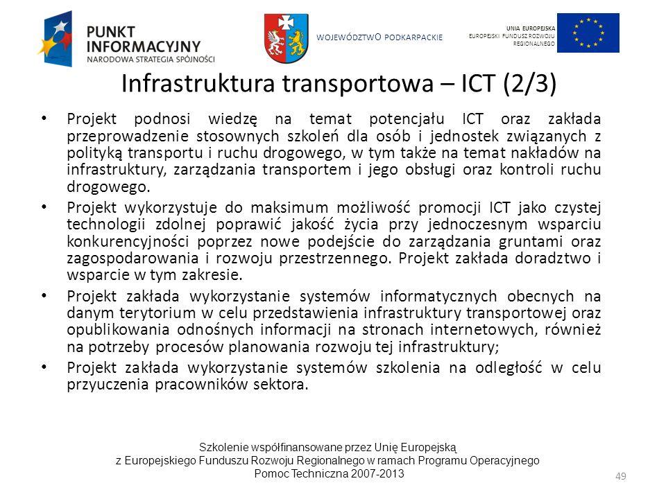 Infrastruktura transportowa – ICT (2/3)