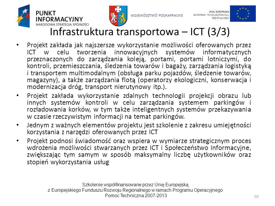 Infrastruktura transportowa – ICT (3/3)