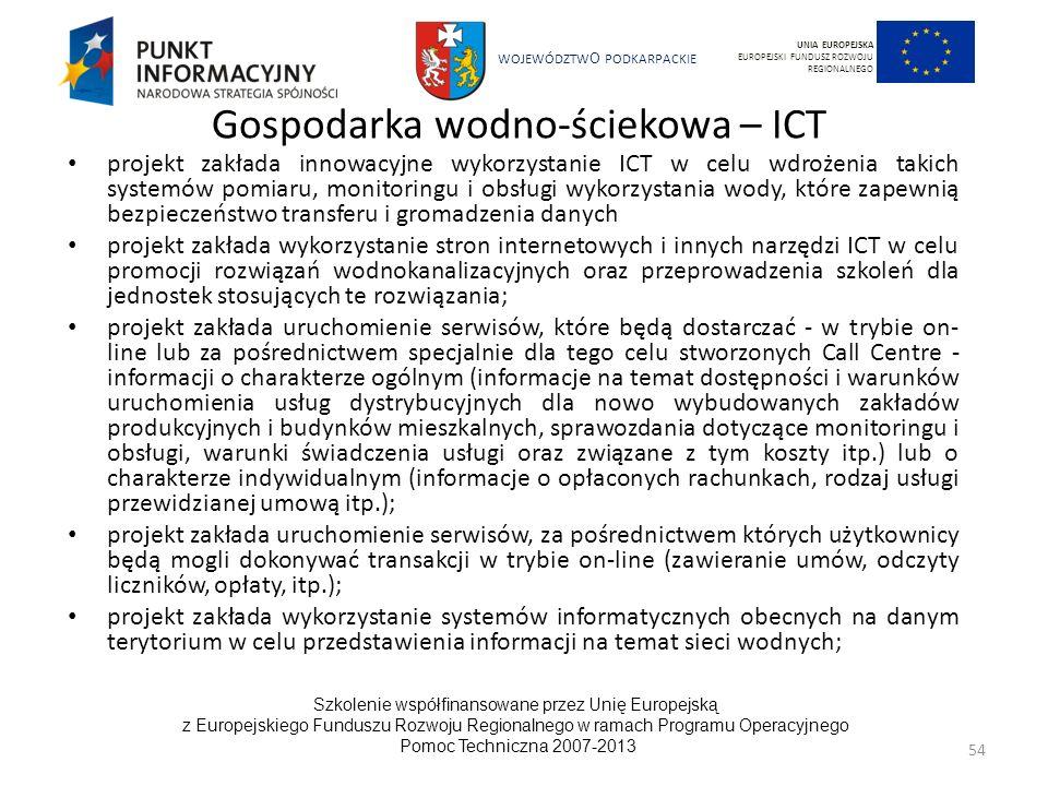 Gospodarka wodno-ściekowa – ICT
