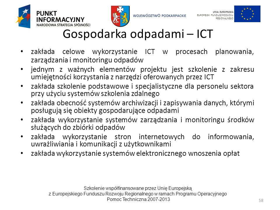 Gospodarka odpadami – ICT
