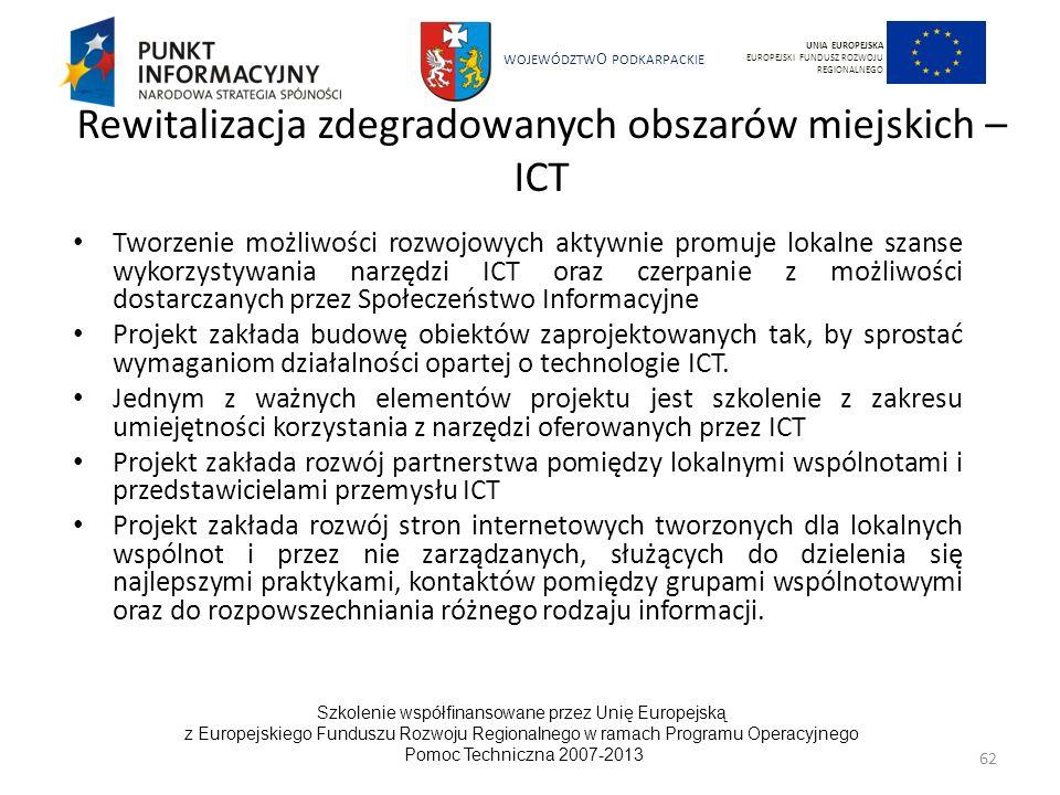 Rewitalizacja zdegradowanych obszarów miejskich – ICT