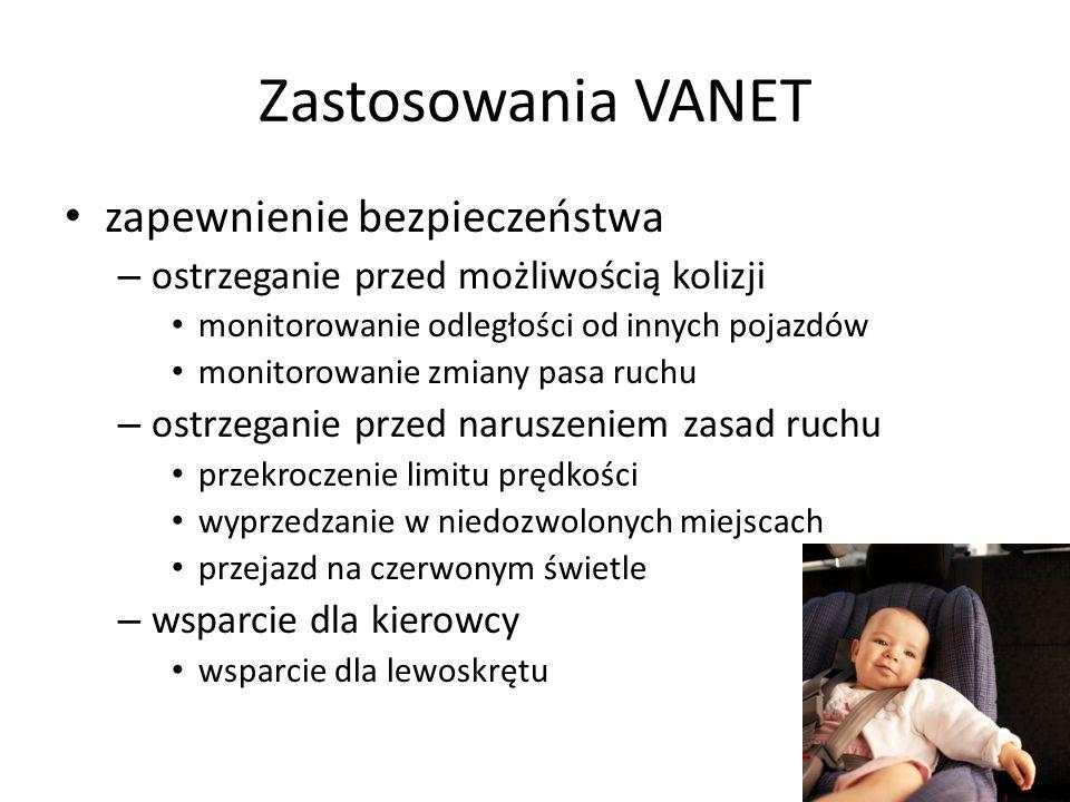 Zastosowania VANET zapewnienie bezpieczeństwa
