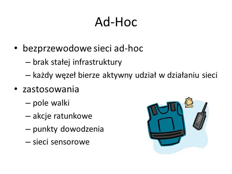 Ad-Hoc bezprzewodowe sieci ad-hoc zastosowania