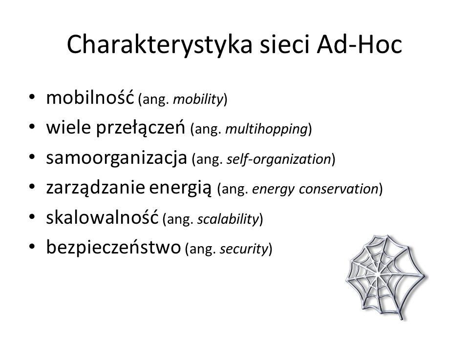 Charakterystyka sieci Ad-Hoc