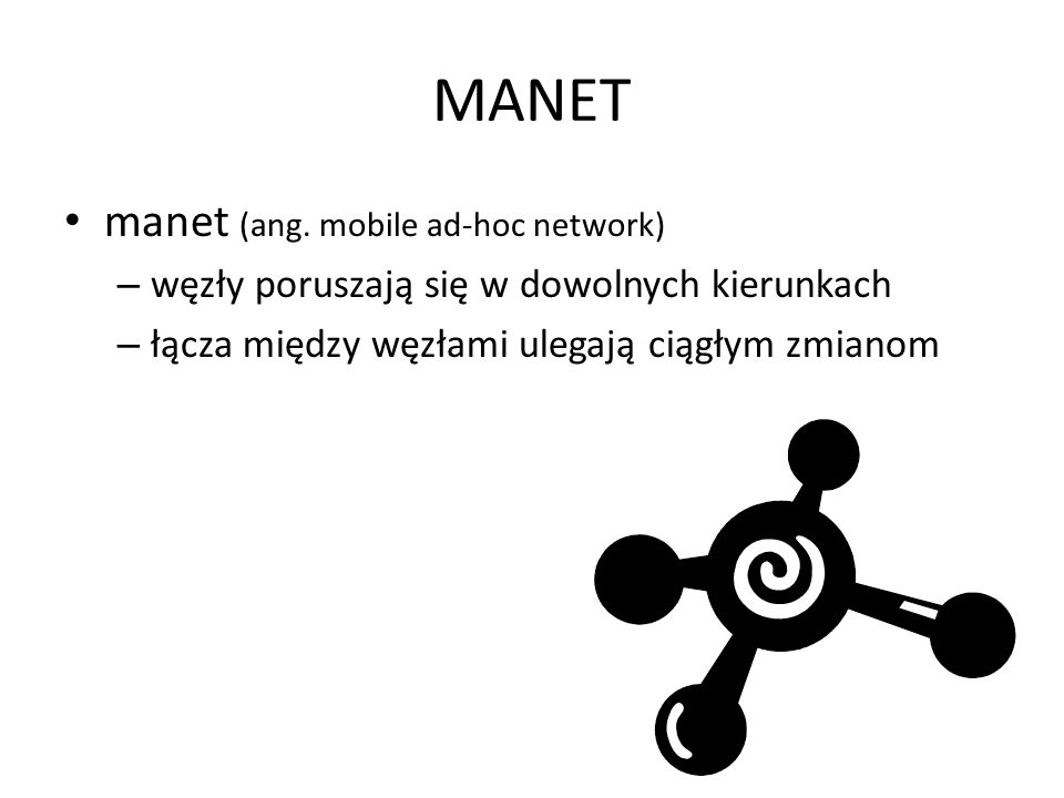 MANET manet (ang. mobile ad-hoc network)