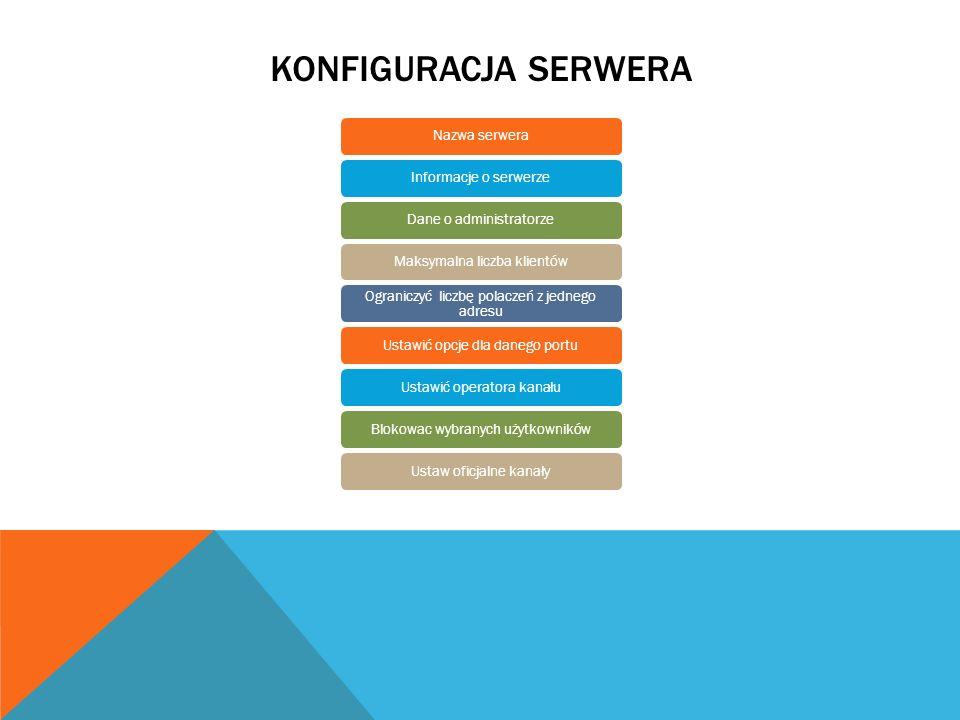 Konfiguracja serwera Nazwa serwera Informacje o serwerze