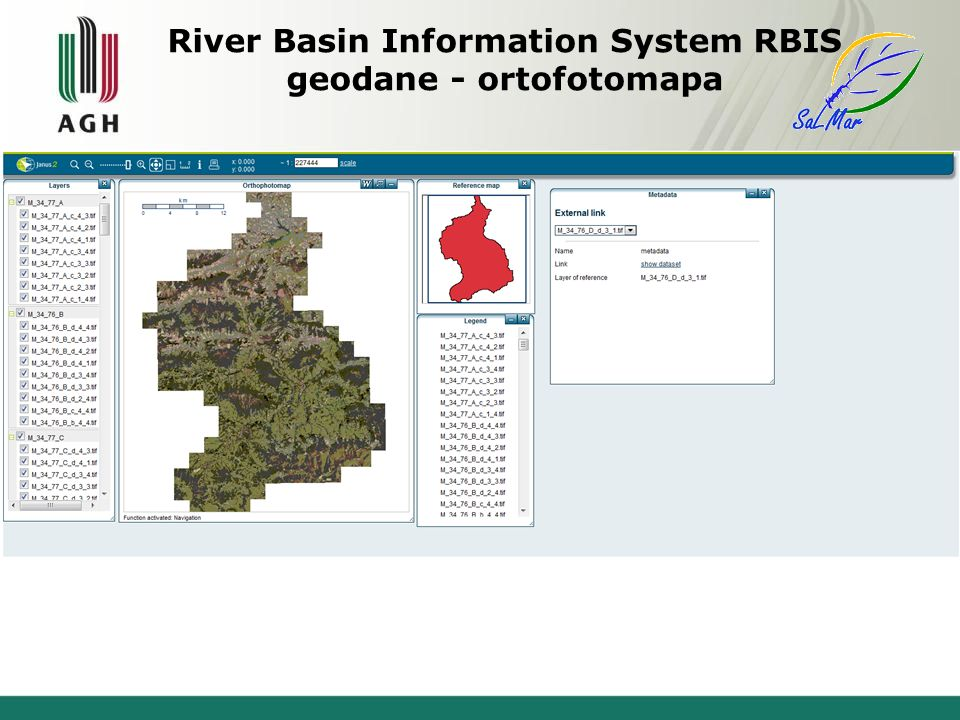 River Basin Information System RBIS geodane - ortofotomapa