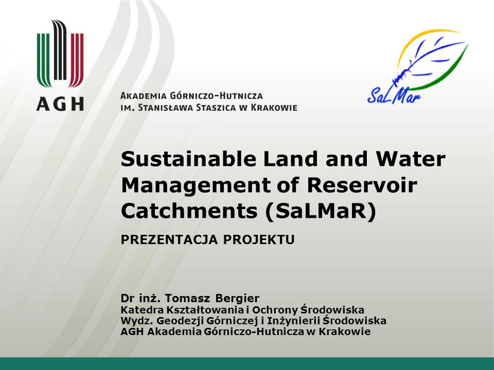 Sustainable Land and Water Management of Reservoir Catchments (SaLMaR)
