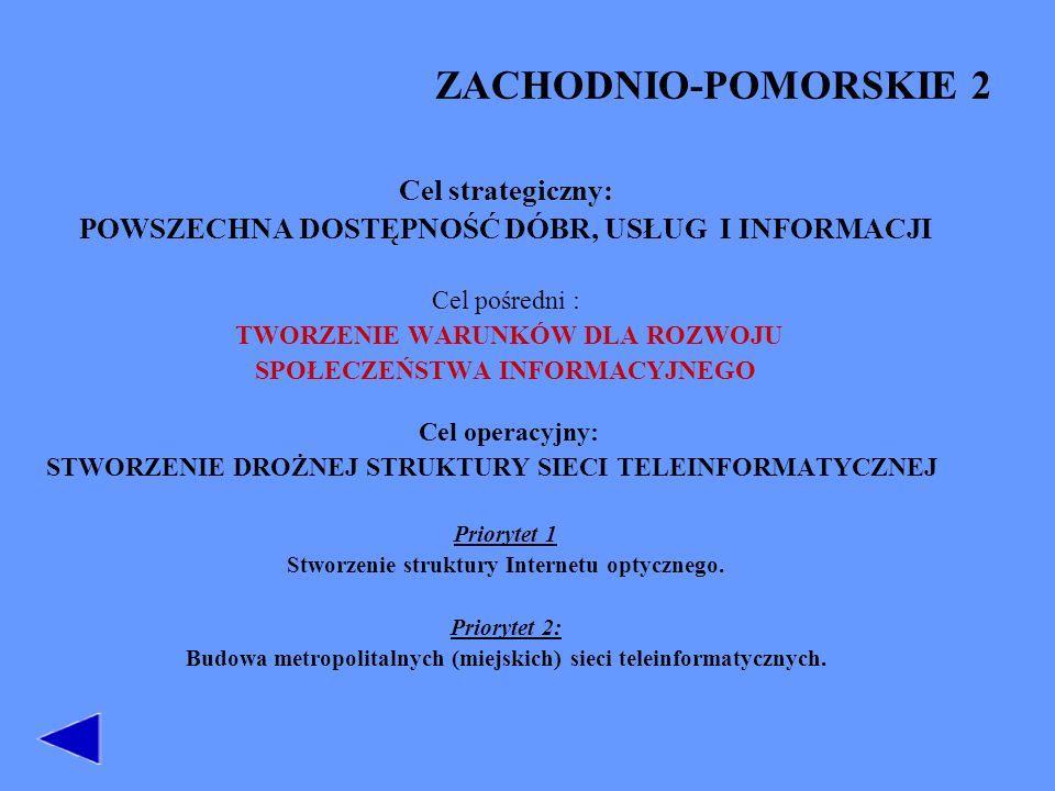ZACHODNIO-POMORSKIE 2 Cel strategiczny:
