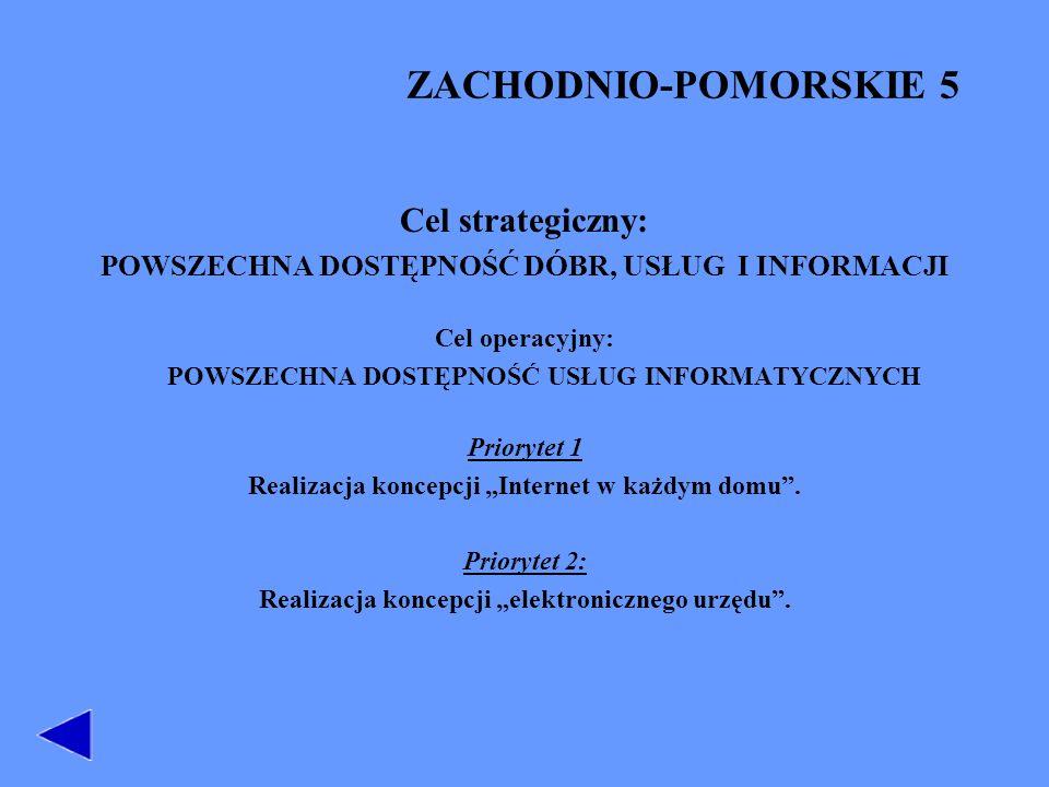 ZACHODNIO-POMORSKIE 5 Cel strategiczny: