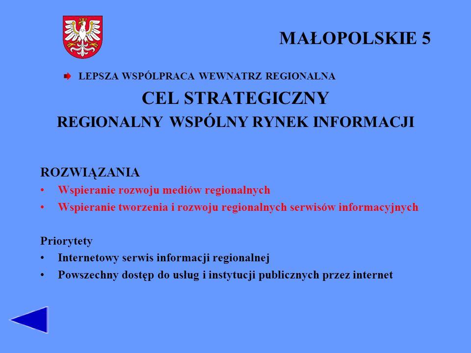 REGIONALNY WSPÓLNY RYNEK INFORMACJI