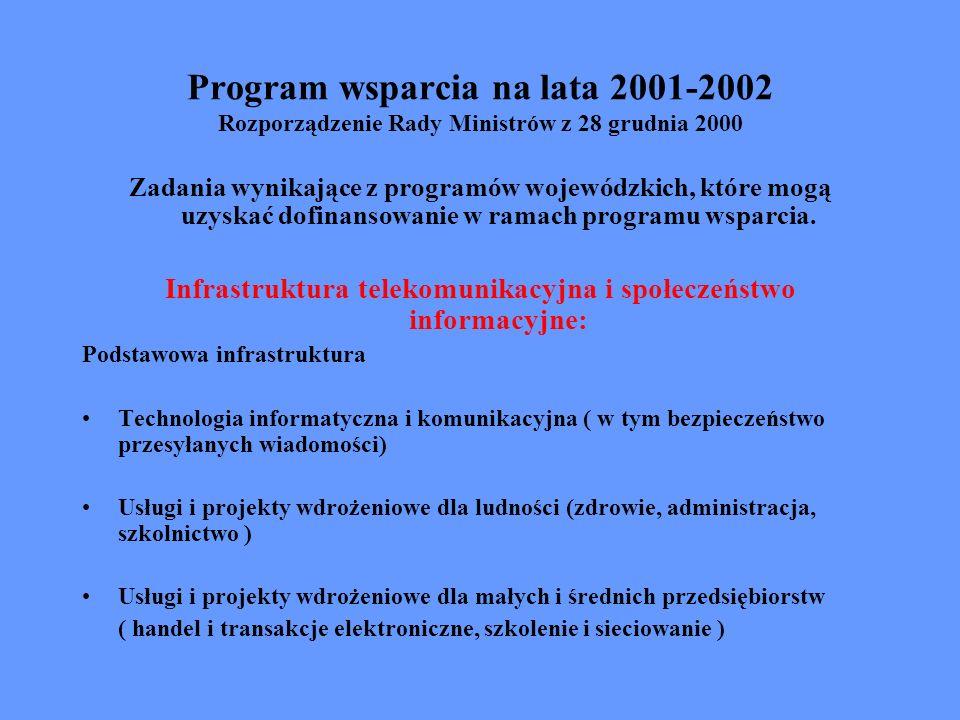 Infrastruktura telekomunikacyjna i społeczeństwo informacyjne: