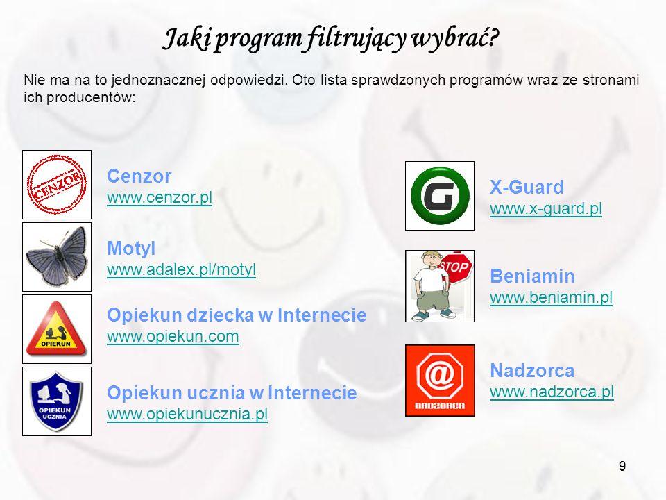 Jaki program filtrujący wybrać