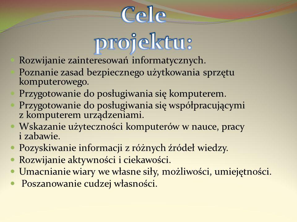 Cele projektu: Rozwijanie zainteresowań informatycznych.