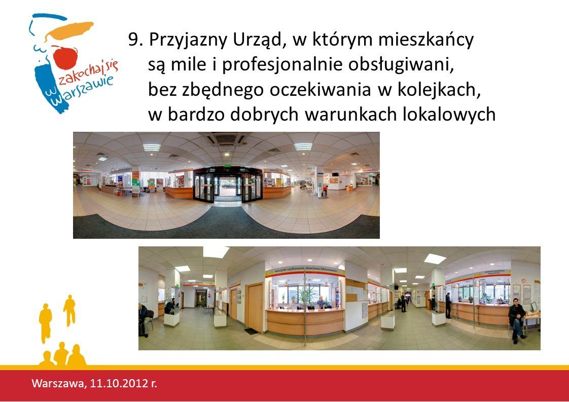 9. Przyjazny Urząd, w którym mieszkańcy są mile i profesjonalnie obsługiwani, bez zbędnego oczekiwania w kolejkach, w bardzo dobrych warunkach lokalowych