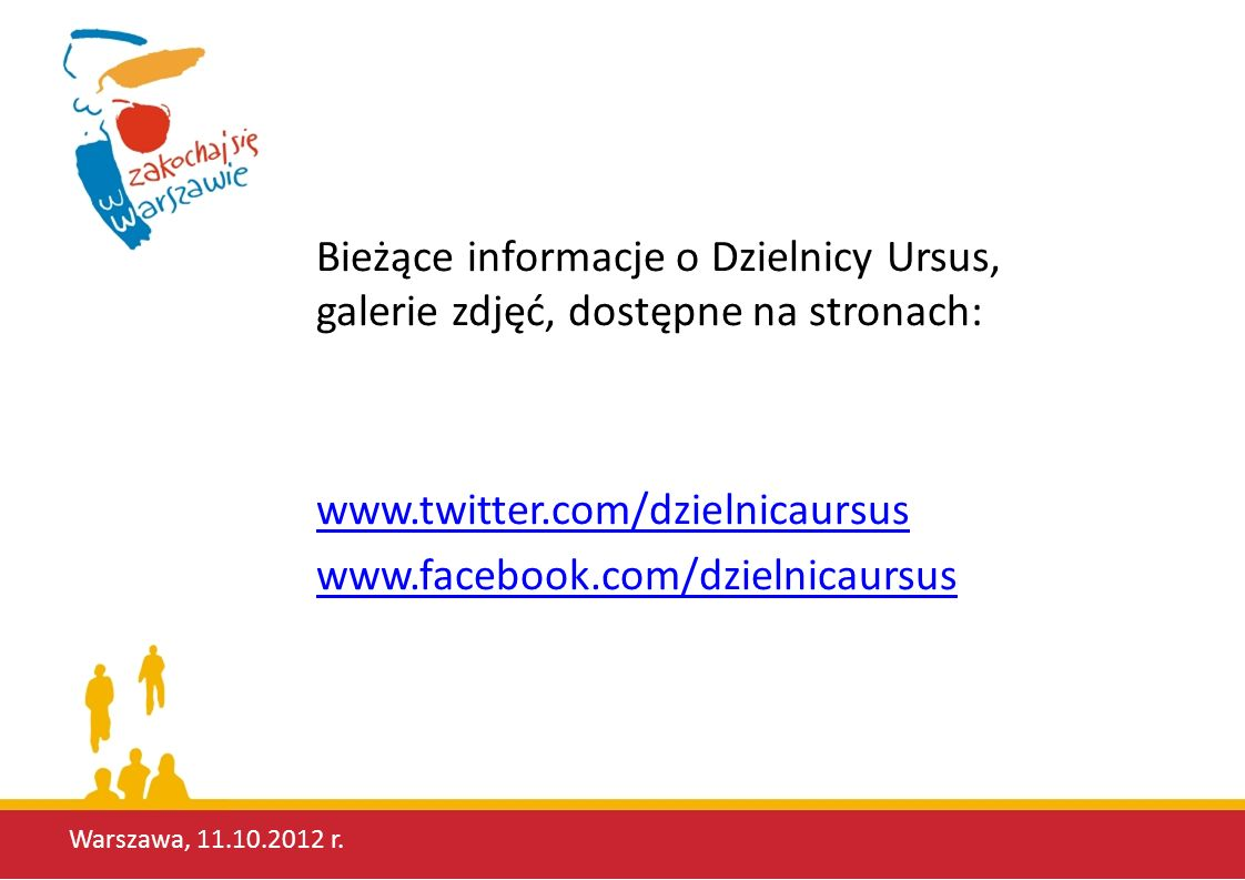 Bieżące informacje o Dzielnicy Ursus, galerie zdjęć, dostępne na stronach: