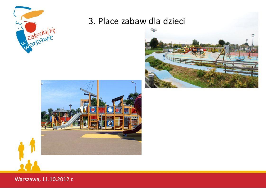 3. Place zabaw dla dzieci Warszawa, 11.10.2012 r.