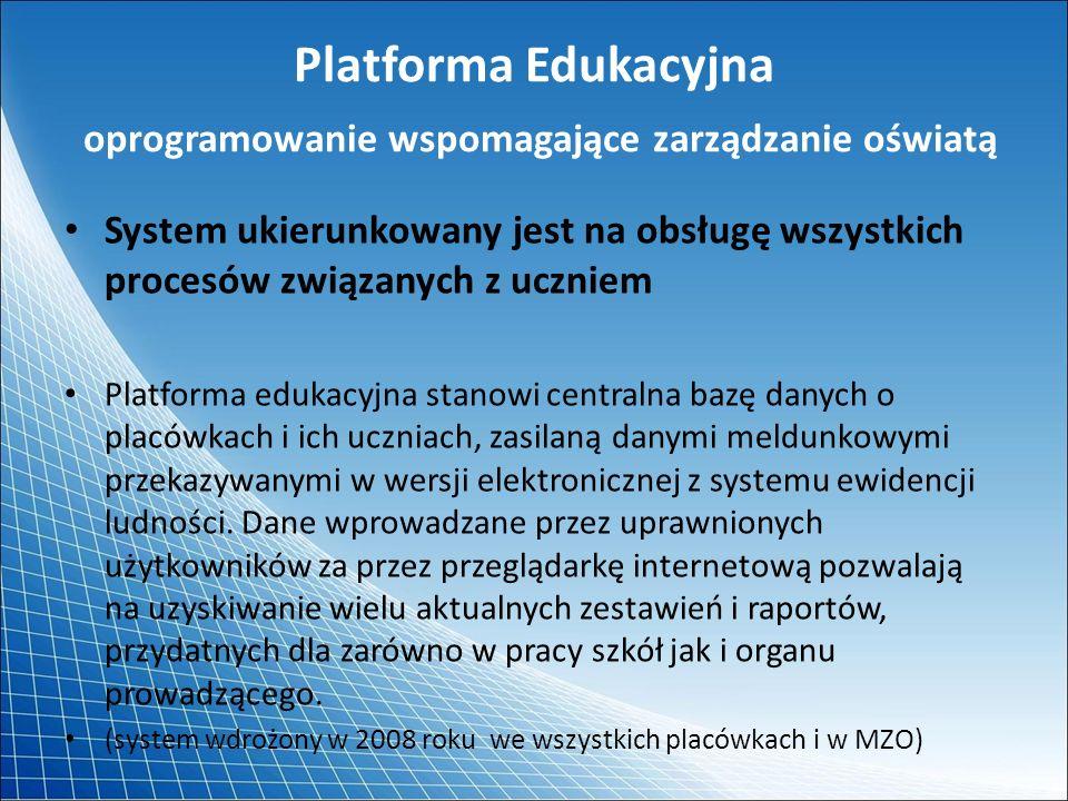 Platforma Edukacyjna oprogramowanie wspomagające zarządzanie oświatą