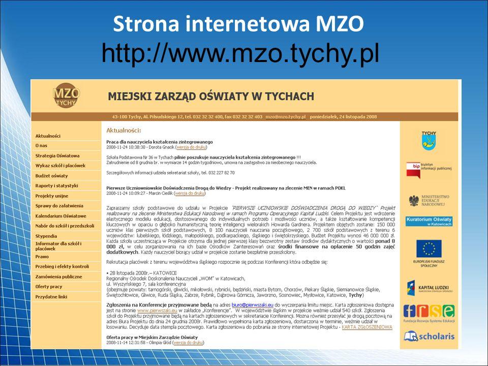 Strona internetowa MZO