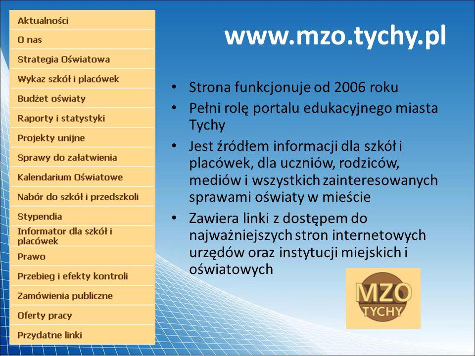 www.mzo.tychy.pl Strona funkcjonuje od 2006 roku