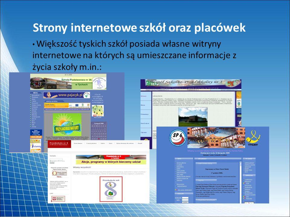 Strony internetowe szkół oraz placówek
