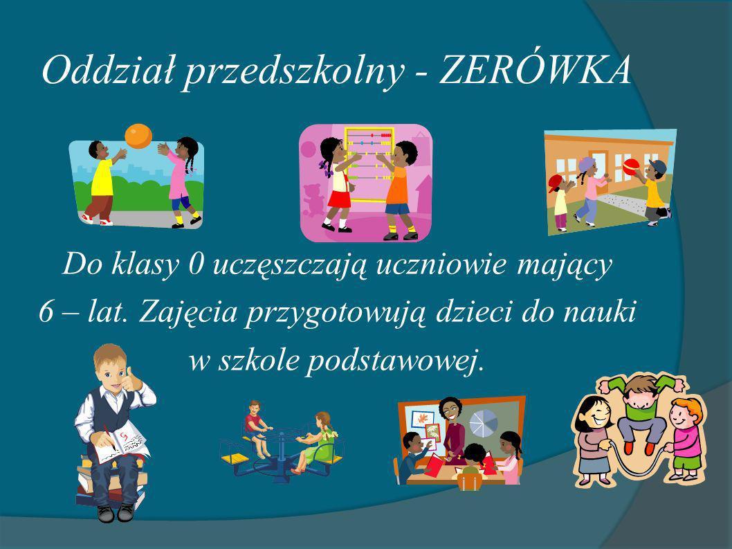 Oddział przedszkolny - ZERÓWKA