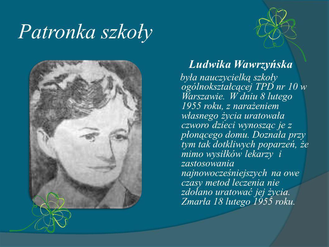 Patronka szkoły Ludwika Wawrzyńska