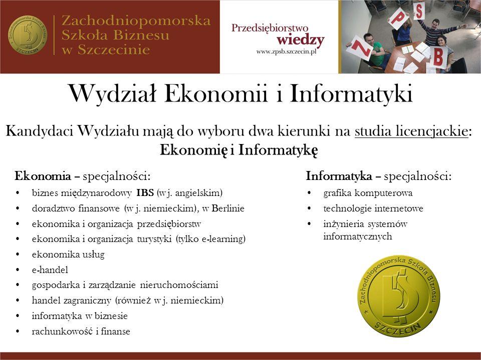 Ekonomię i Informatykę