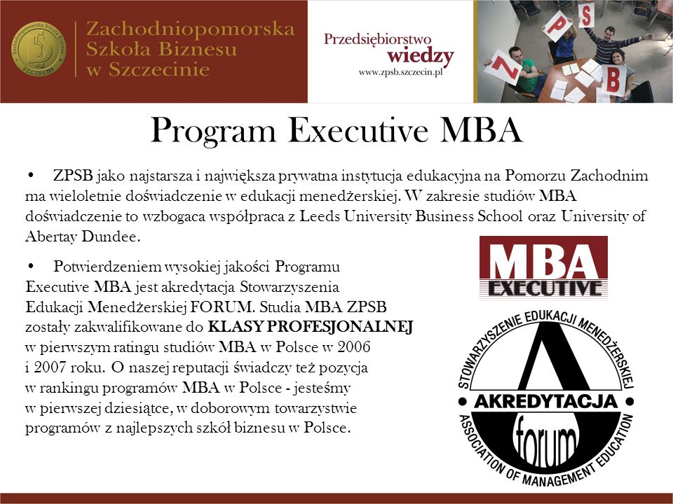 Program Executive MBA