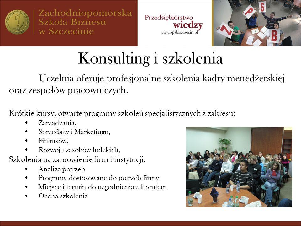 Konsulting i szkolenia