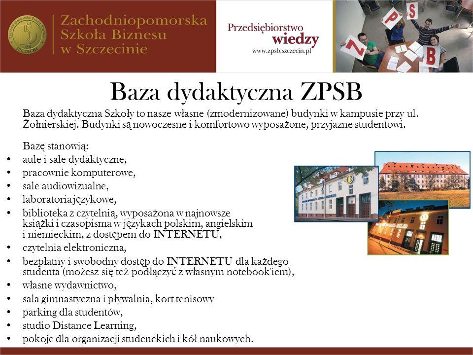 Baza dydaktyczna ZPSB aule i sale dydaktyczne, pracownie komputerowe,