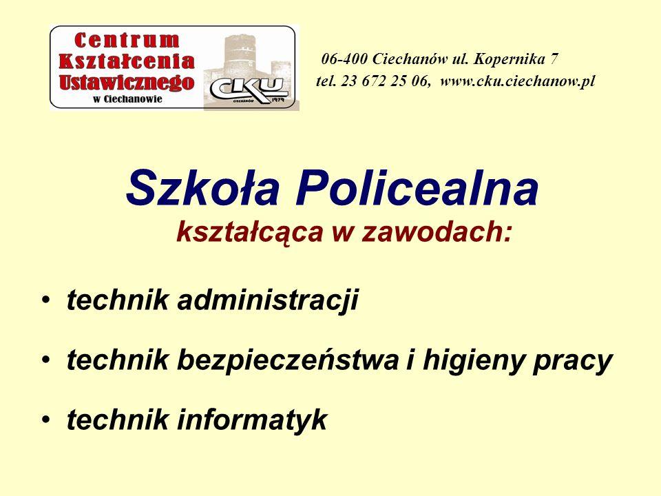 Szkoła Policealna kształcąca w zawodach: