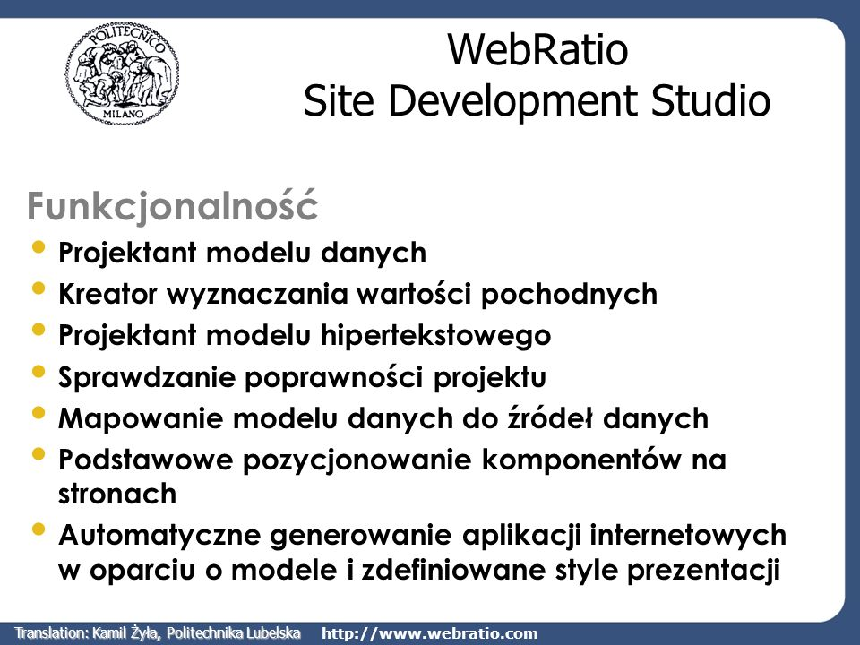 WebRatio Site Development Studio