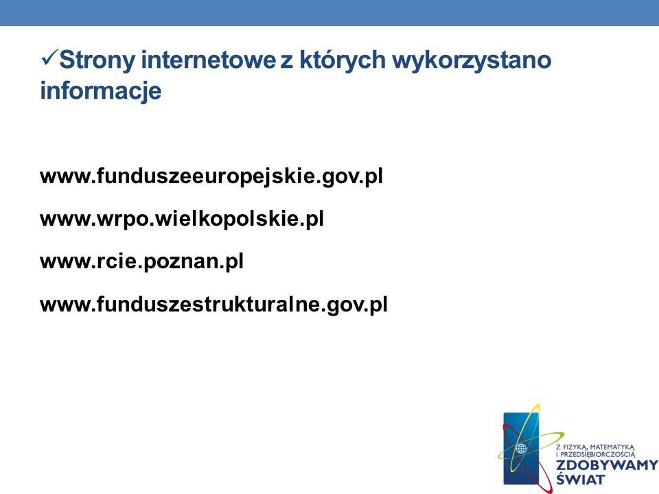 Strony internetowe z których wykorzystano informacje