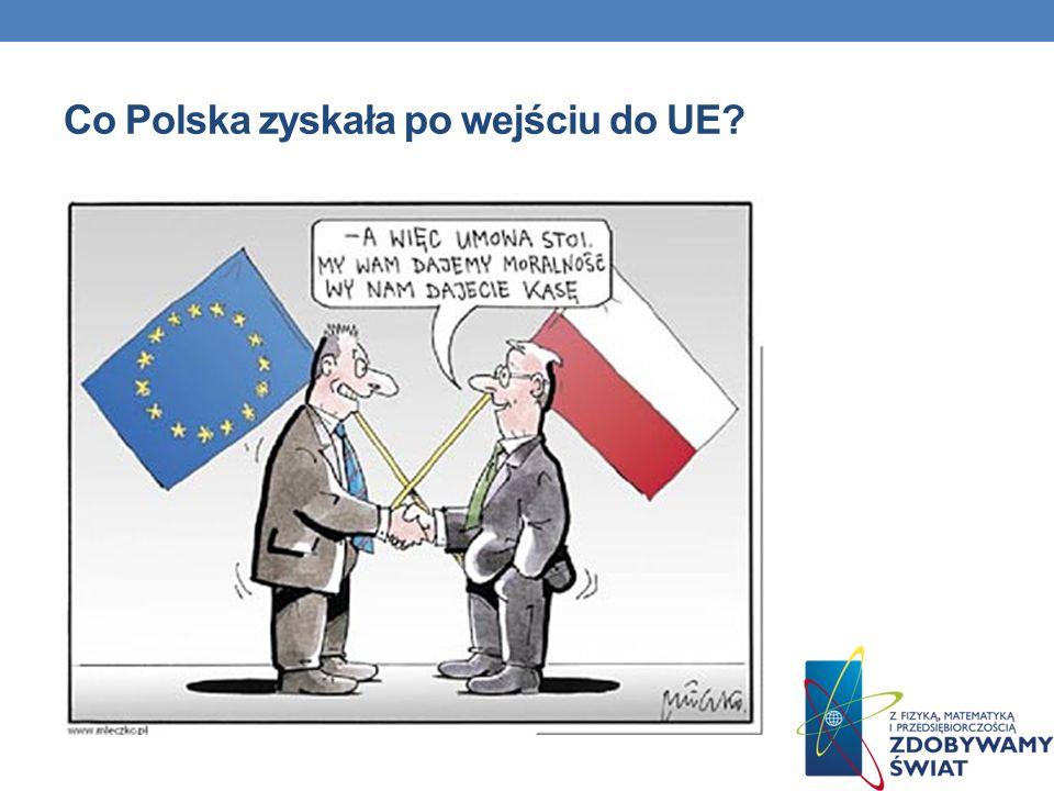 Co Polska zyskała po wejściu do UE